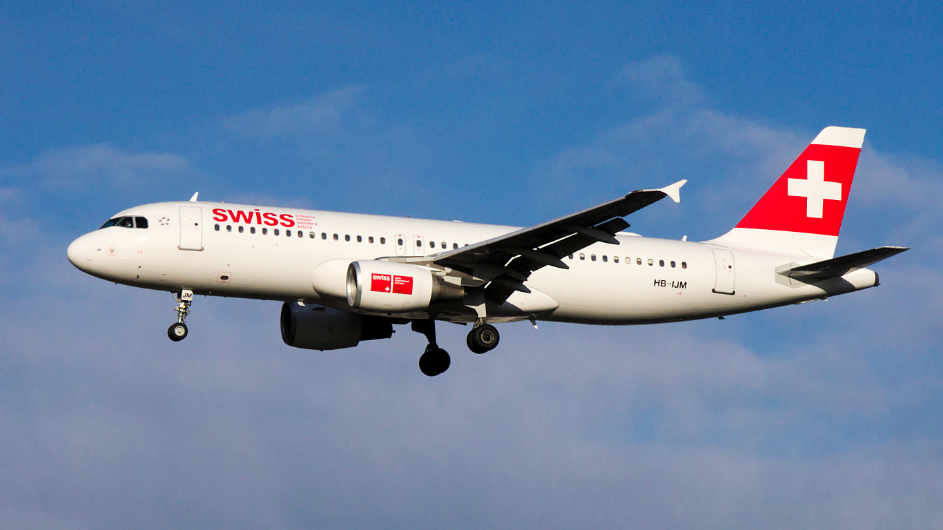 HB-IJM ✈ Swiss International Air Lines Airbus A320-214 @ London-Heathrow