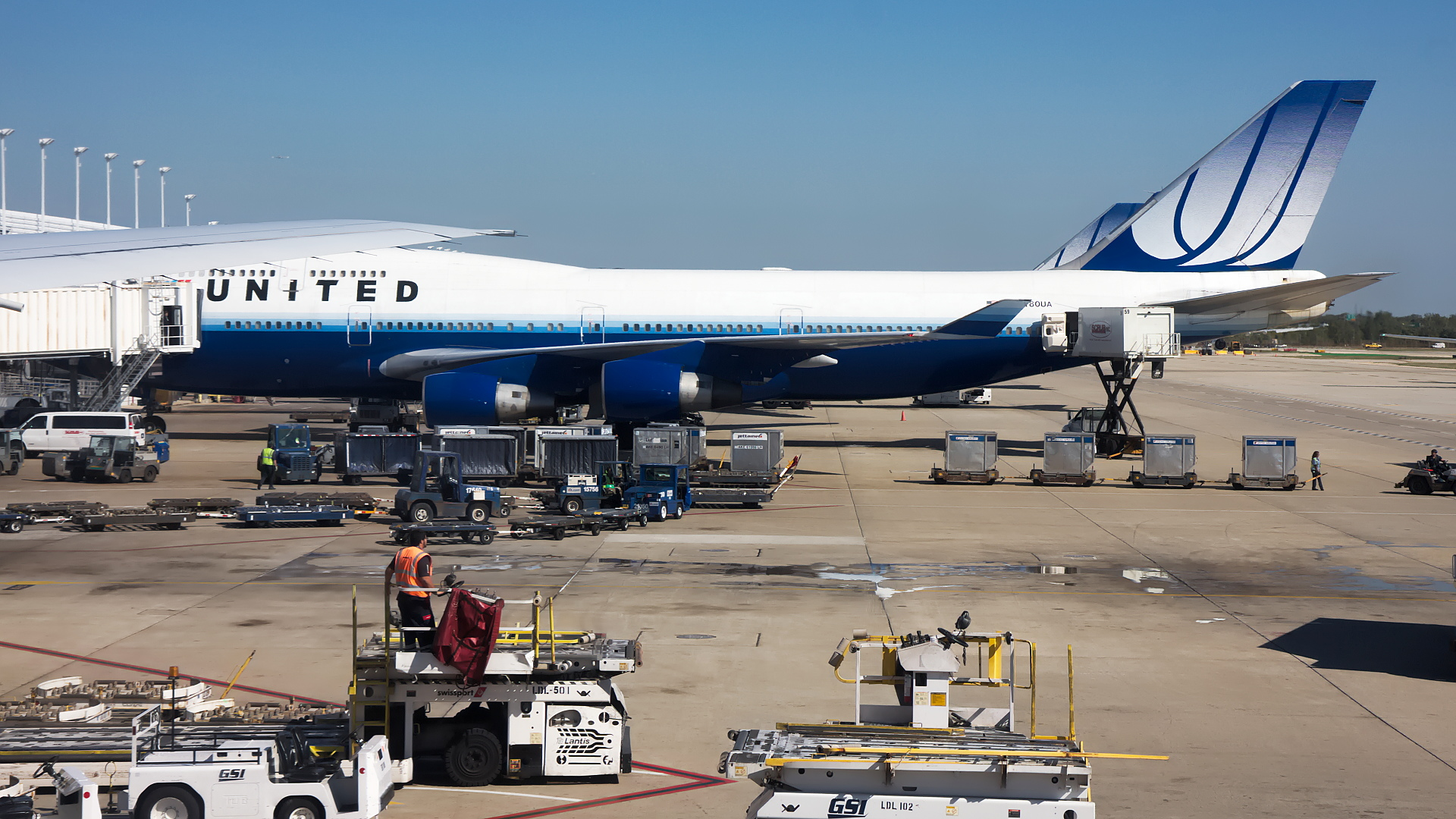 N180UA ✈ United Airlines Boeing 747-422 @ Chicago-O'Hare