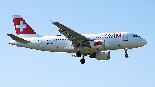 HB-IPX ✈ Swiss International Air Lines Airbus A319-112
