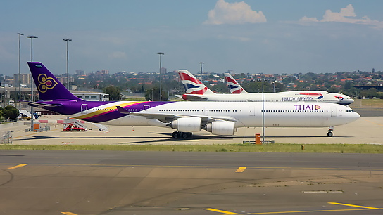 HS-TNC ✈ Thai Airways International Airbus A340-642